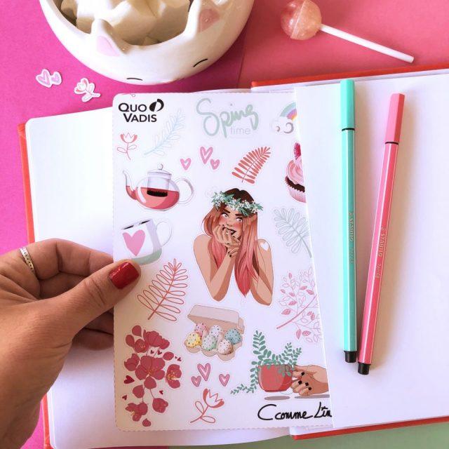 Stickers C comme Line illustratrice pour le printemps